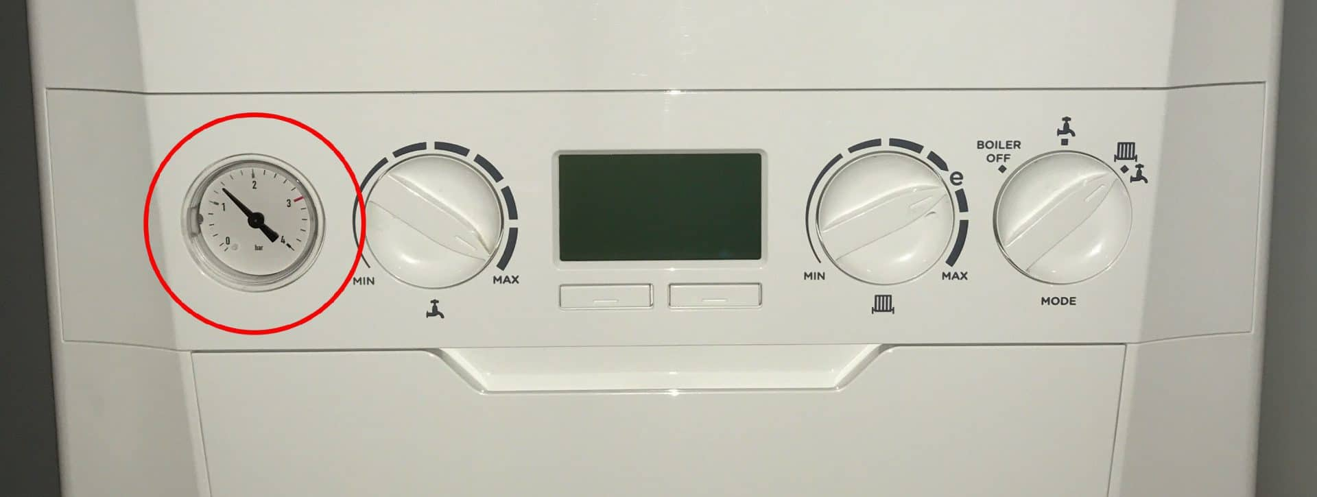 Boiler Water Pressure Low - Ideal Logic+ UI board