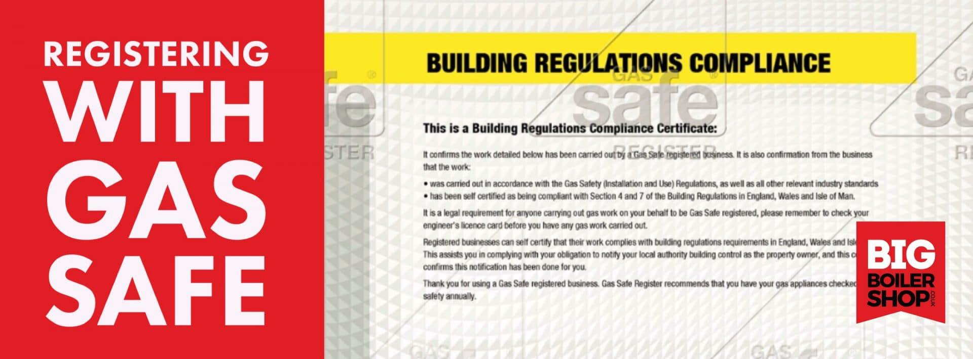 New Gas Boiler Building Regulations Certificate