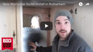 new worcester bosch boiler installation